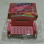 Cadillac calculator desk top calculator pink unused@SOLD@